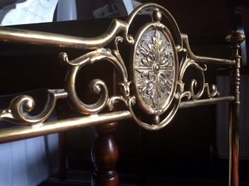 brass chair detail