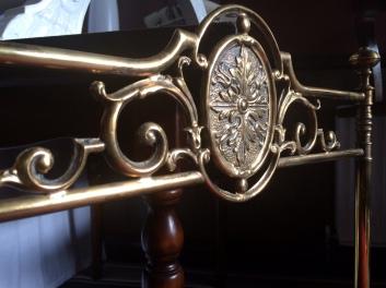brass chair detail