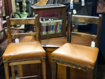 leather tall stools